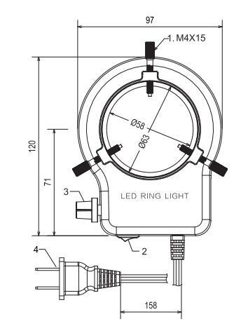 倒置显微镜目镜光源尺寸图